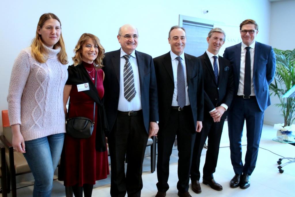 Orpea Italia - Il CEO Thibault Sartini con il console di Francia Cyrille Rogeau e l'Assessore alla Sanità Giulio Gallera